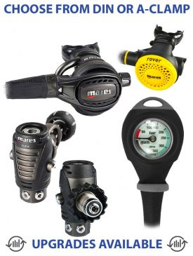 Mares Epic ADJ 82X Regulator, Rover Octopus & Gauge