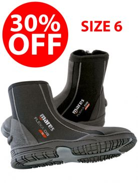 CLEARANCE - 30% OFF - Mares Flexa DS 5mm Boot - Size 6