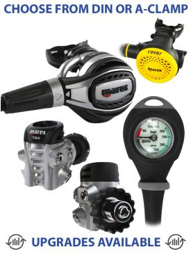 Mares Fusion 72X Regulator, Rover Octopus & Gauge
