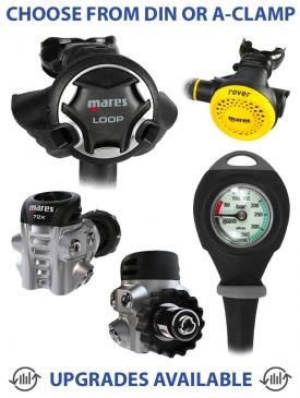Mares Loop 72X Regulator, Rover Octopus & Gauge