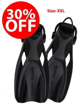 CLEARANCE - 30% OFF - Mares Power Plana Fins - XXL