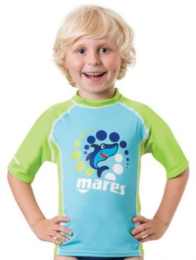 Mares Rash Guard UPF 50+ Short Sleeve Boys
