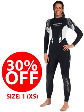 CLEARANCE - 30% OFF - Mares Reef She Dives 3mm Wetsuit Ladies - Size 1 (XS)
