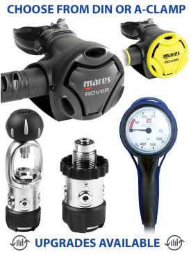 Mares Rover 2S Regulator, Rover Octopus & Gauge