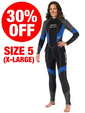 CLEARANCE - Mares Seal Skin 6mm Ladies Wetsuit - Size 5 / X-Large