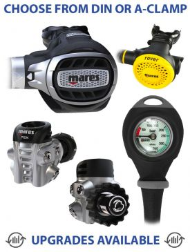 Mares Ultra 72X Regulator, Rover Octopus & Gauge