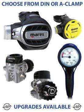 Mares Ultra 72X Regulator, Rover Octopus & Gauge