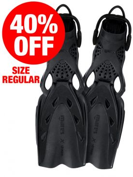 CLEARANCE - 40% OFF - Mares X-Stream Fins - Black, Regular
