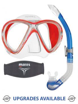 Mares X-Vu Liquidskin Mask, Snorkel & Mask Strap