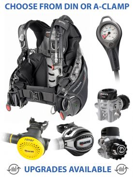 Mares Dragon BCD, Fusion 72X Regulator, Rover Octopus & Gauge