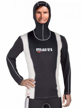 Mares Fire Skin Long Sleeve w/Hood Mens Rash Guard