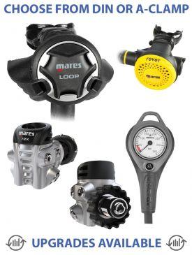 Mares Loop 72X Regulator, Rover Octopus & Gauge
