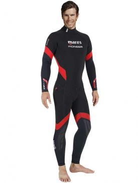 Mares Pioneer Wetsuit 5mm - Black/Red