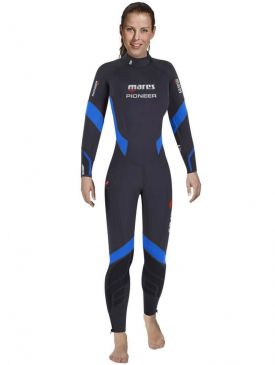 Mares Pioneer Womens Wetsuit 7mm - Black/Blue