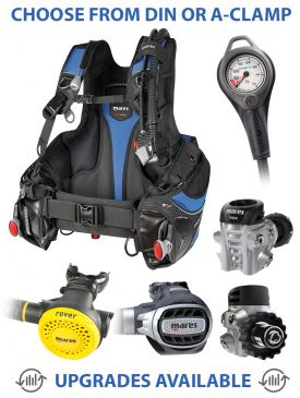 Mares Prestige SLS BCD, Ultra 72X Regulator, Rover Octopus & Gauge
