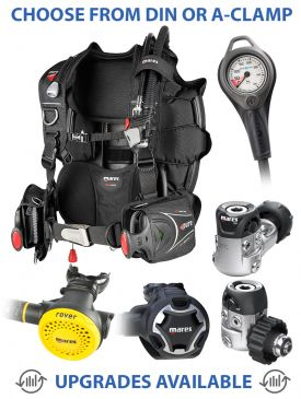 Mares Pure SLS BCD, Mares Dual 15X Regulator, Rover Octopus & Gauge