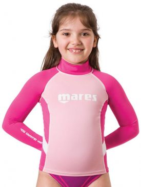 Mares Rash Guard UPF 50+ Long Sleeve Junior Girls
