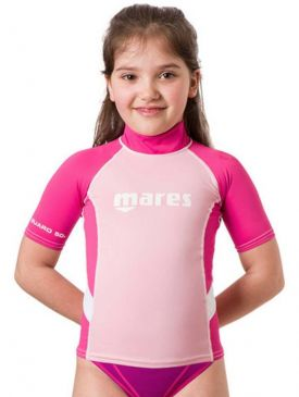 Mares Rash Guard UPF 50+ Short Sleeve Junior Girls