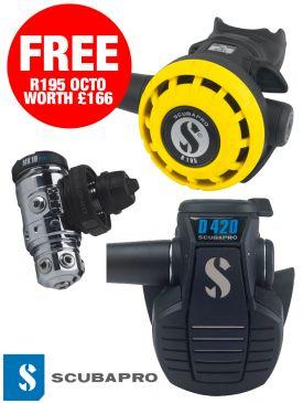Scubapro MK19 EVO / D420 Regulator + FREE R195 Octops