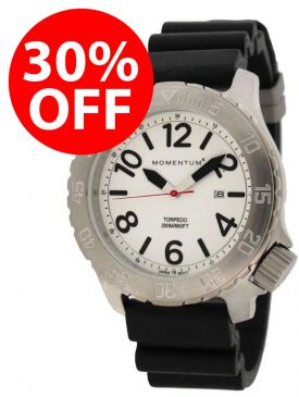 30% OFF - Clearance - Momentum Torpedo Rubber Dive Watch
