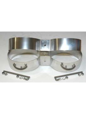 10/12 Ltr Twin Stainless Band 7""