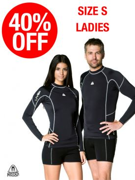 CLEARANCE - 40% OFF - Waterproof R30 Rash Guard Ladies - Small
