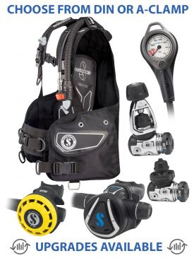 Scubapro Equalizer BCD, MK17 EVO/C370 Reg, R195 Octopus & Gauge