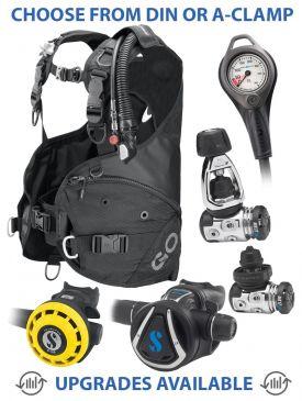 Scubapro Go BCD, MK17 EVO/C370 Reg, R195 Octopus & Gauge