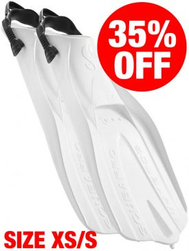CLEARANCE - 35% OFF - Scubapro Go Fins - White, Size XS-S