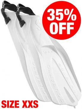 CLEARANCE - 35% OFF - Scubapro Go Fins - White, Size XXS