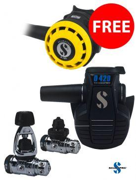 BLACK FRIDAY - Scubapro MK19 EVO / D420 Regulator + FREE R195 Octopus