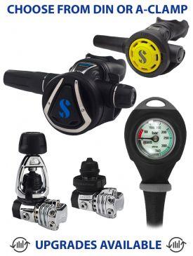 Scubapro MK21 / C370 Regulator, R095 Octopus & Gauge