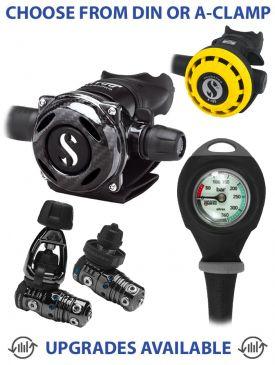 Scubapro MK25 Evo/A700 Carbon Black Tech, R195 Octo