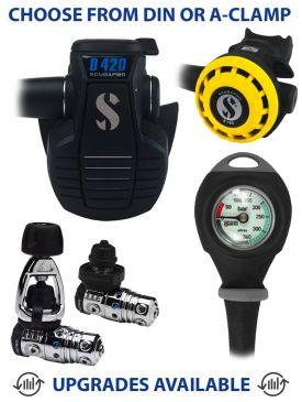 Scubapro MK25 EVO/D420 Regulator, R195 Octopus & Gauge