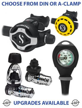 Scubapro MK25 EVO/S620TI Regulator, R195 Octopus & Gauge