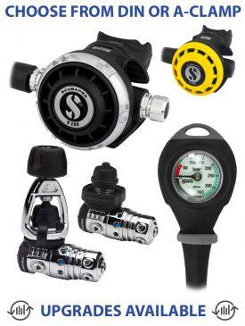 Scubapro MK25 Evo/G260 Regulator, R195 Octopus & Gauge