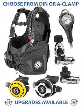 Scubapro X-Black BCD, MK25 EVO/S600 Reg, R195 Octopus & Gauge