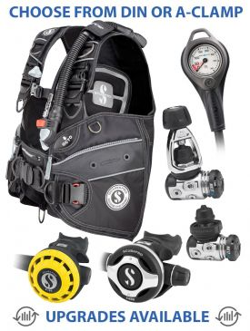 Scubapro X-Force BCD, MK17 EVO/S600 Reg, R195 Octopus & Gauge