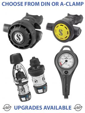 Scubapro MK2 EVO/R195 Regulator, R095 Octopus & Gauge