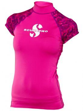 Scubapro Short Sleeve Womens Rash Guard - Flamingo