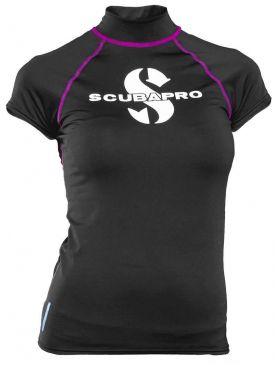 Scubapro Short Sleeve Womens Rash Guard - Onyx