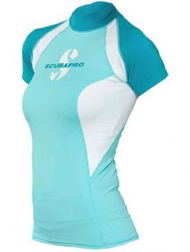 Scubapro T-Flex Rash Guard Womens Short Sleeve - Blue