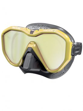 Seac Sub Italica Dive Mask (Black Skirt, Mirrored)
