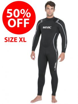 CLEARANCE - 50% OFF - Seac Libera 7mm Wetsuit - Mens - Size XL