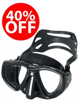 CLEARANCE - 40% OFF - Seac Sub One Mask - Black