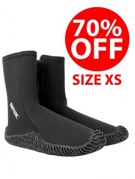 CLEARANCE - 70% OFF - Seac Sub Prime 5mm Dive Boots - Size XS