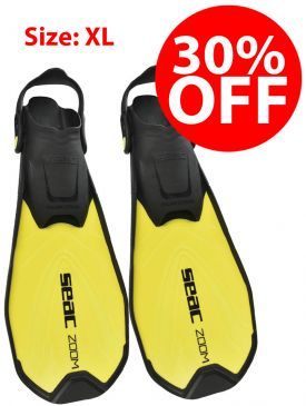 CLEARANCE - 30% OFF - Seac Sub Zoom Fins - Yellow, XL