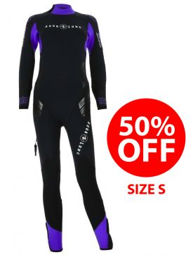 50% OFF - Aqua Lung Balance Comfort 5.5mm Womens Wetsuit - Size S