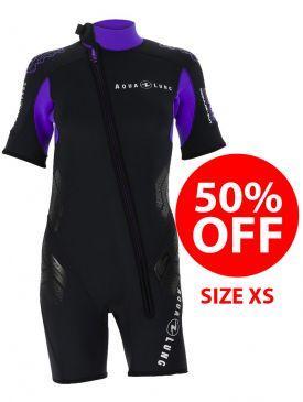 40% OFF - Aqua Lung Balance Comfort 5.5mm Womens Shorty - Size XS