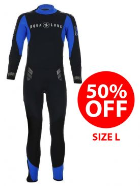 50% OFF - Aqua Lung Balance Comfort 5.5mm Mens Wetsuit - Size L